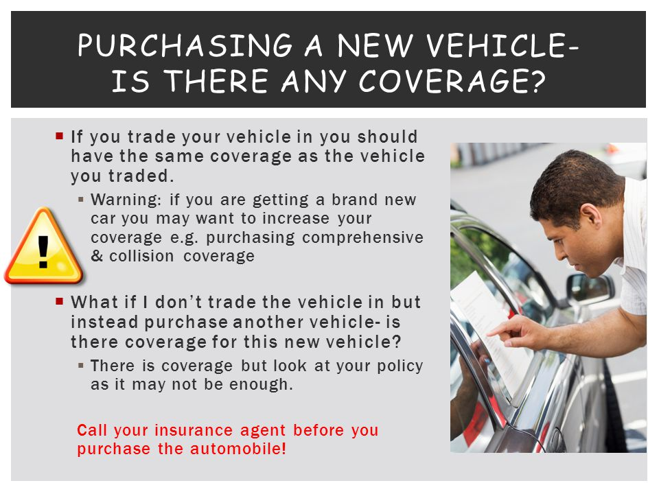 Purchasing a New vehicle- Is there any Coverage