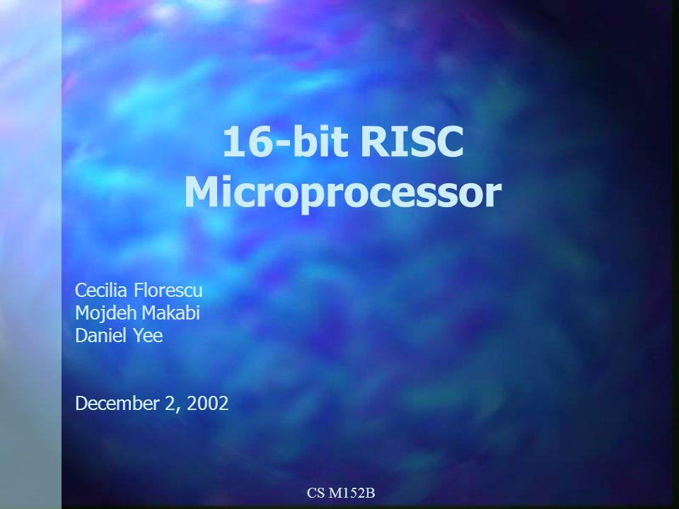 16-bit RISC Microprocessor