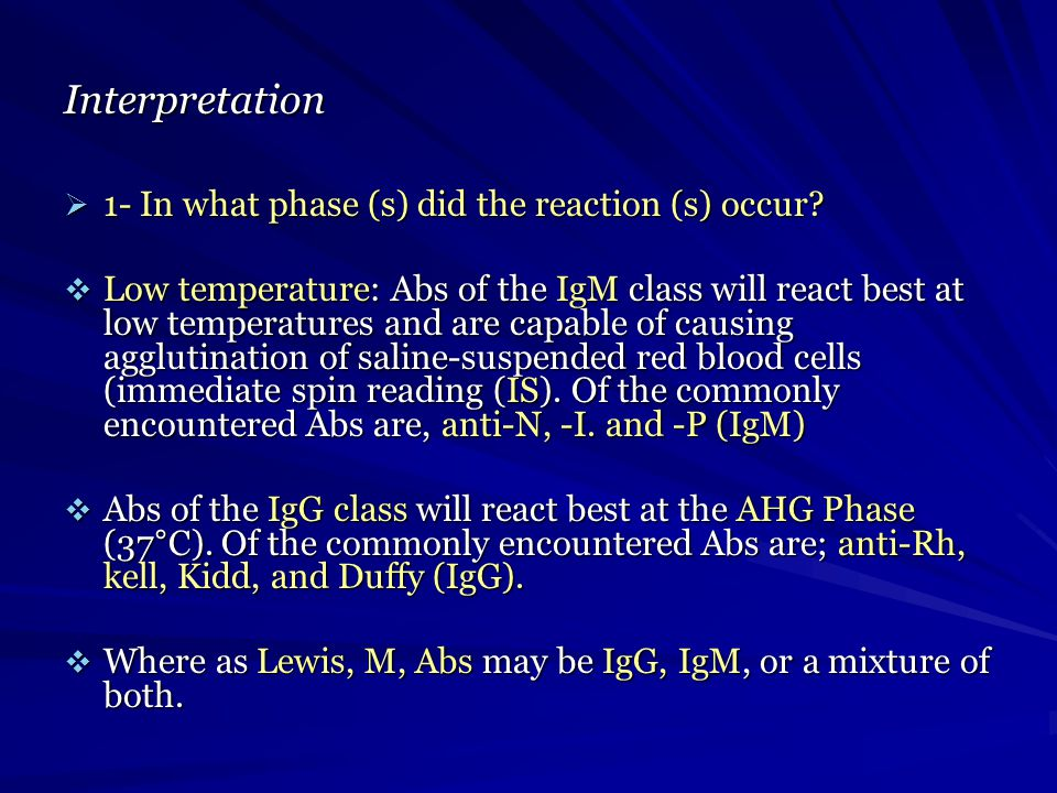 Interpretation 1- In what phase (s) did the reaction (s) occur