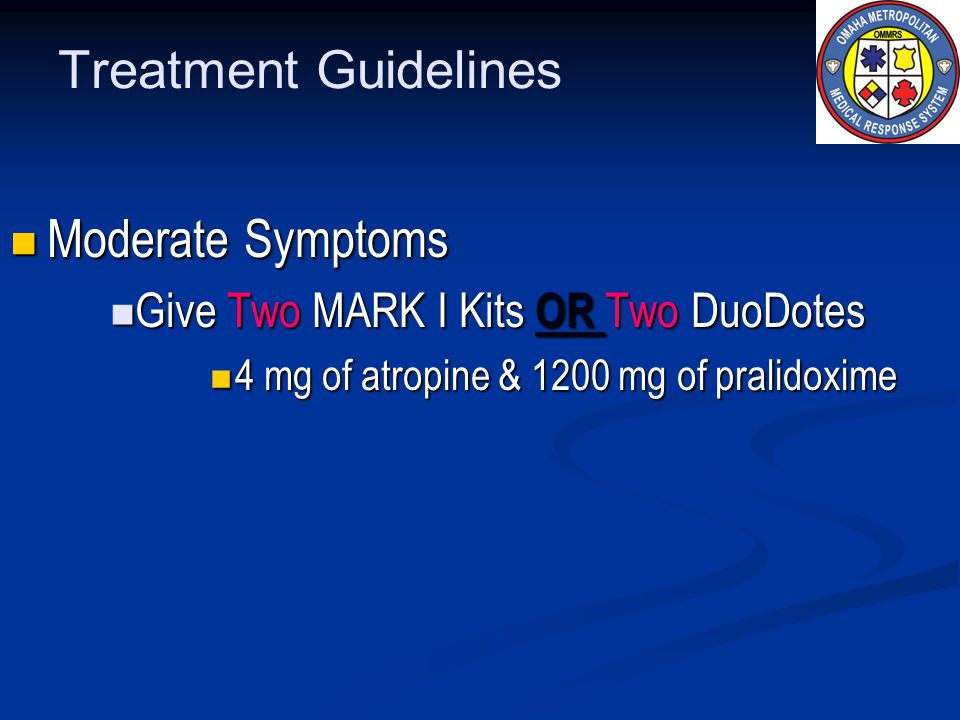Treatment Guidelines Moderate Symptoms