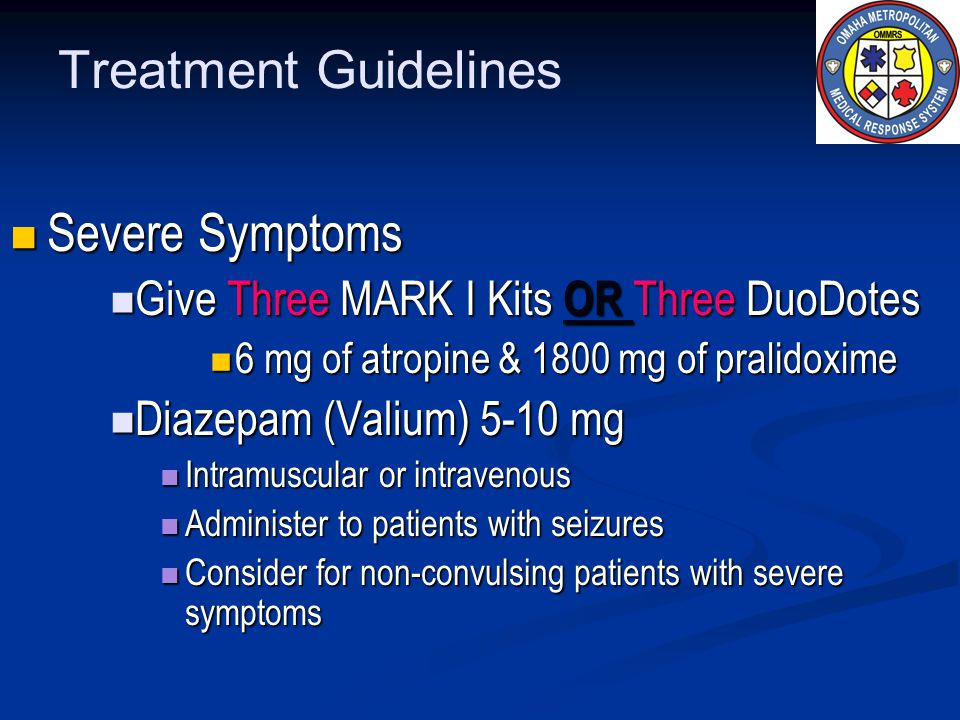 Treatment Guidelines Severe Symptoms