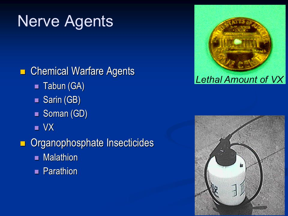 Nerve Agents Chemical Warfare Agents Organophosphate Insecticides