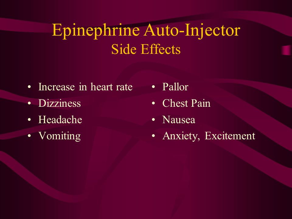 Epinephrine Auto-Injector Side Effects