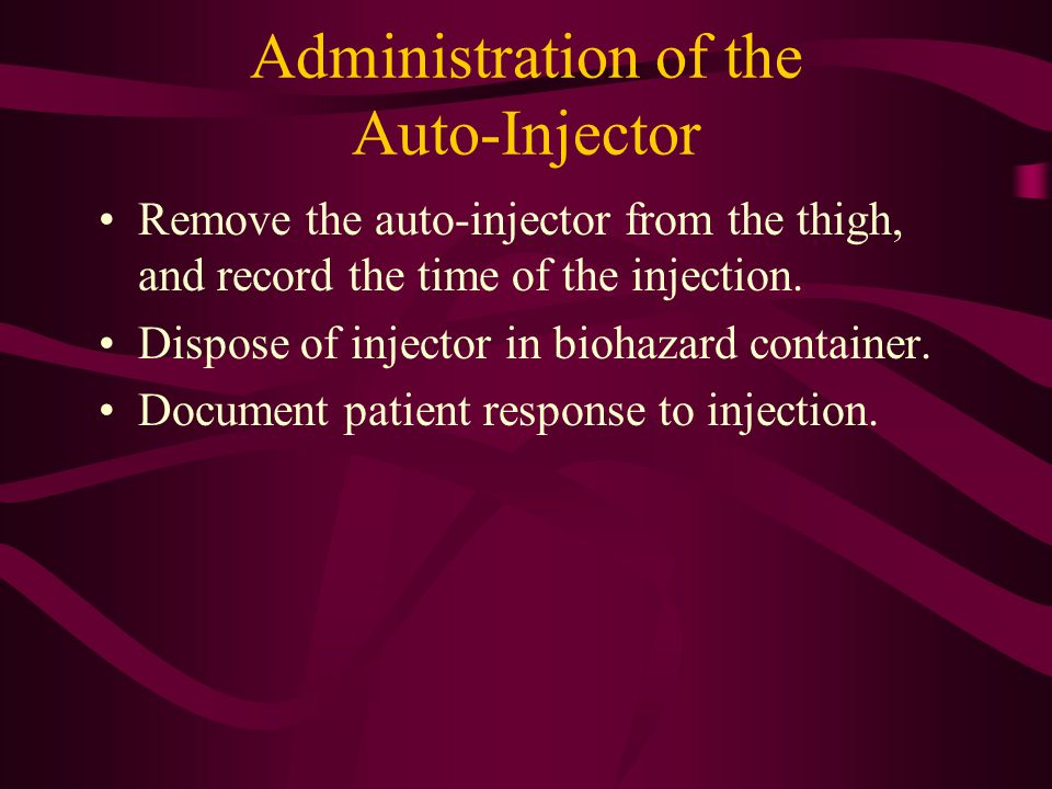 Administration of the Auto-Injector