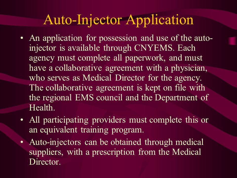 Auto-Injector Application