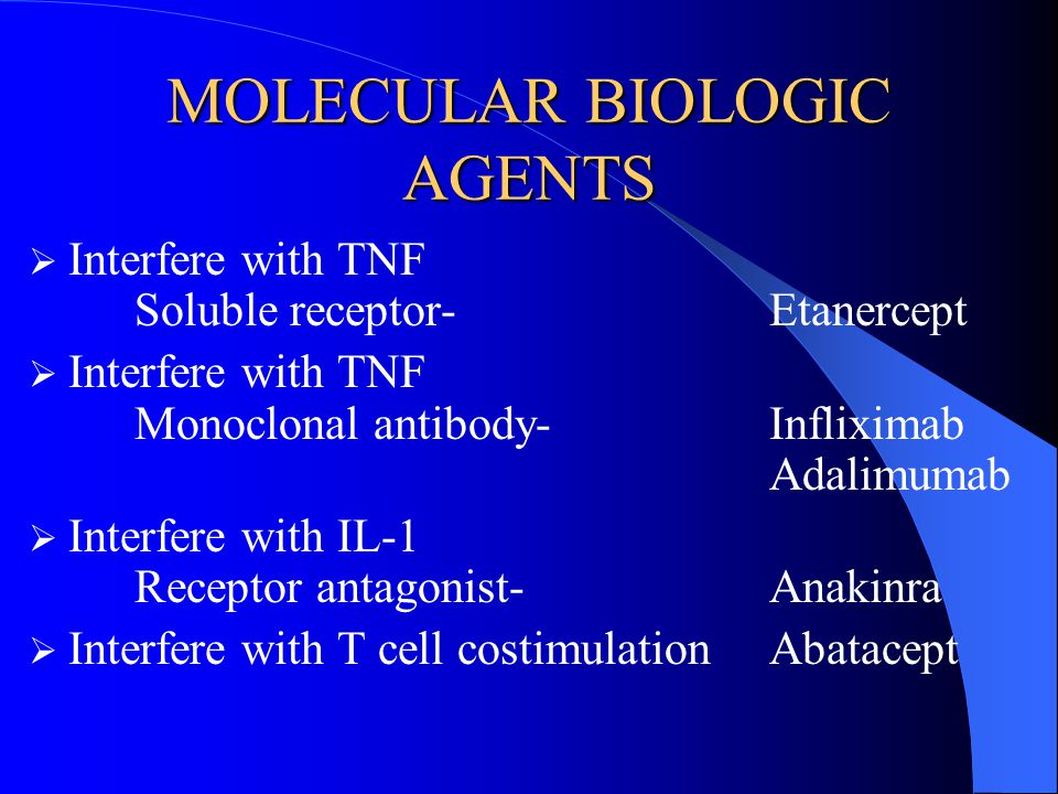MOLECULAR BIOLOGIC AGENTS