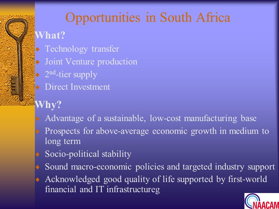 Opportunities in South Africa