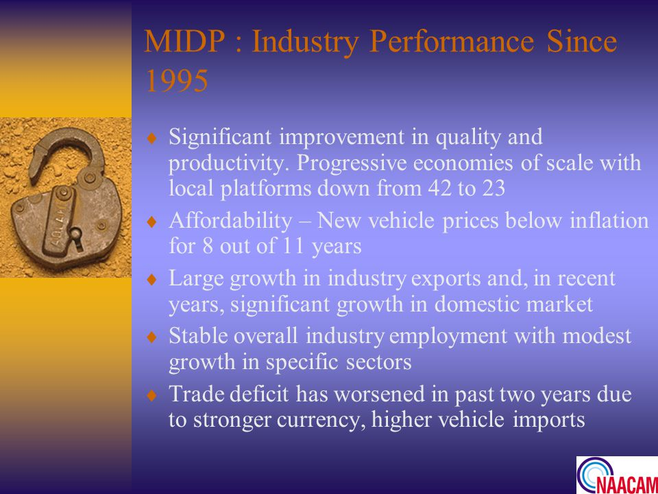 MIDP : Industry Performance Since 1995