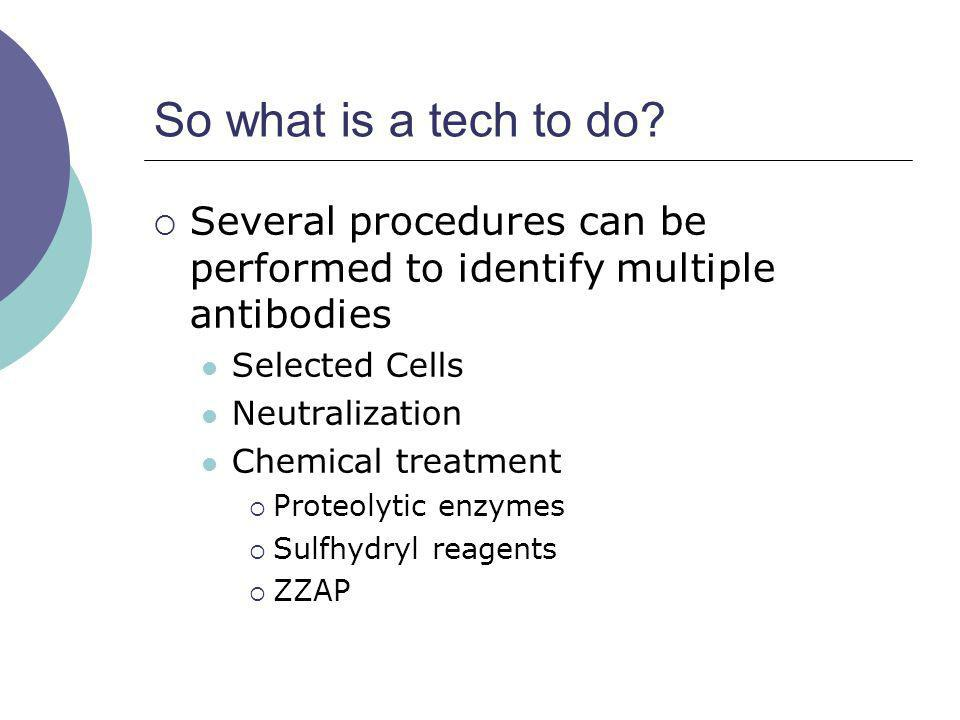 So what is a tech to do Several procedures can be performed to identify multiple antibodies. Selected Cells.