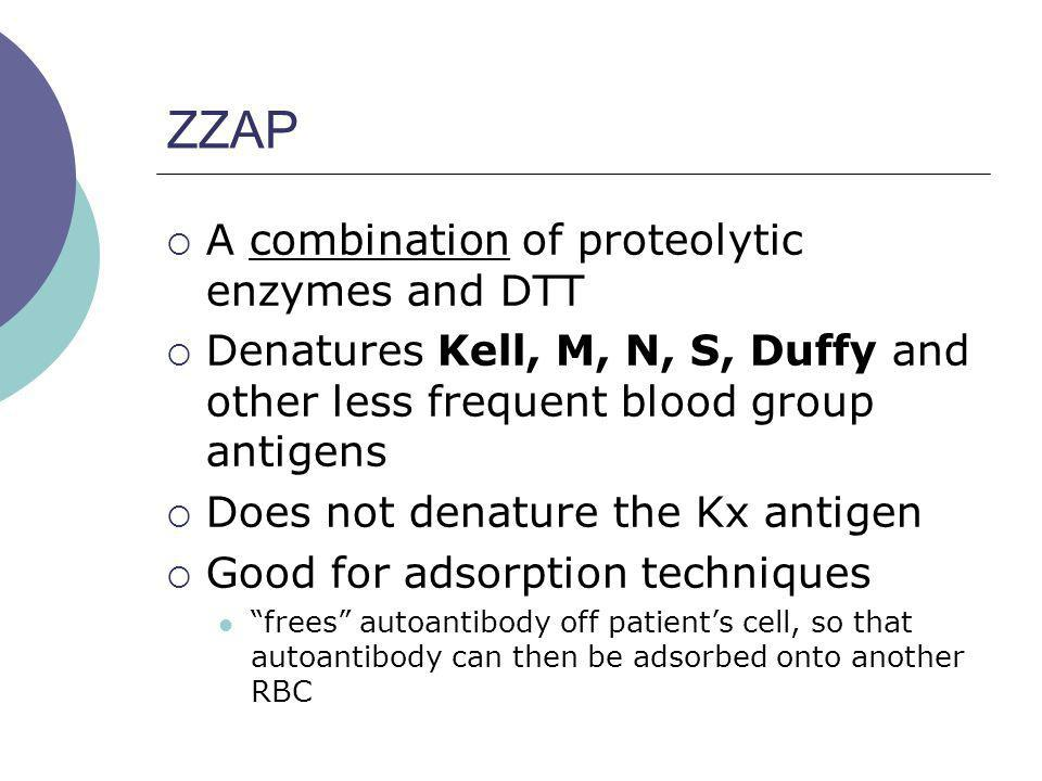 ZZAP A combination of proteolytic enzymes and DTT