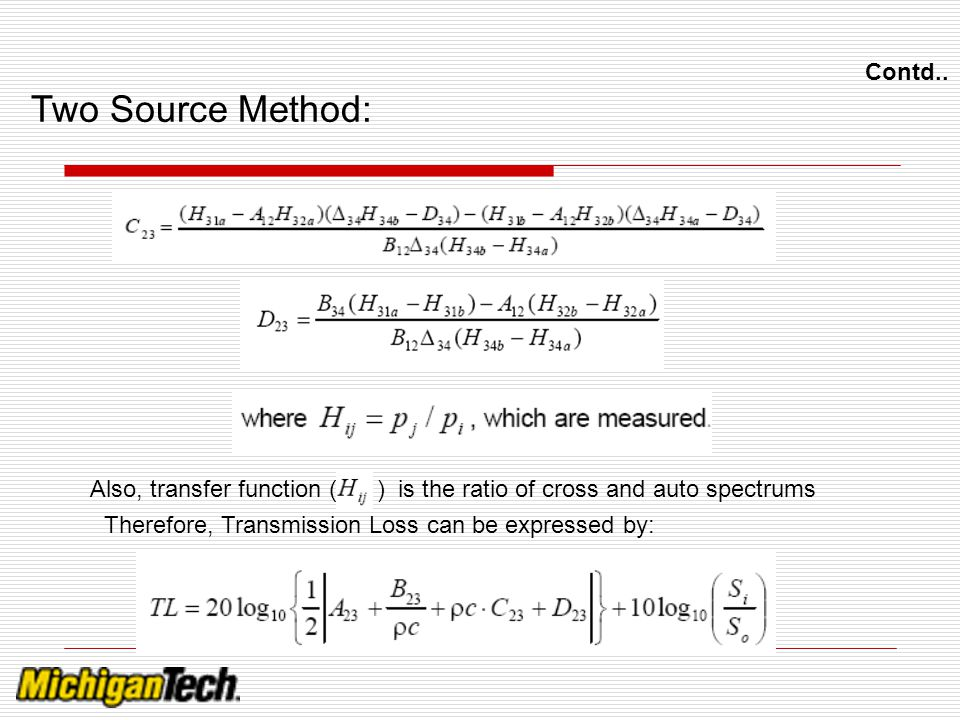 Two Source Method: Contd..