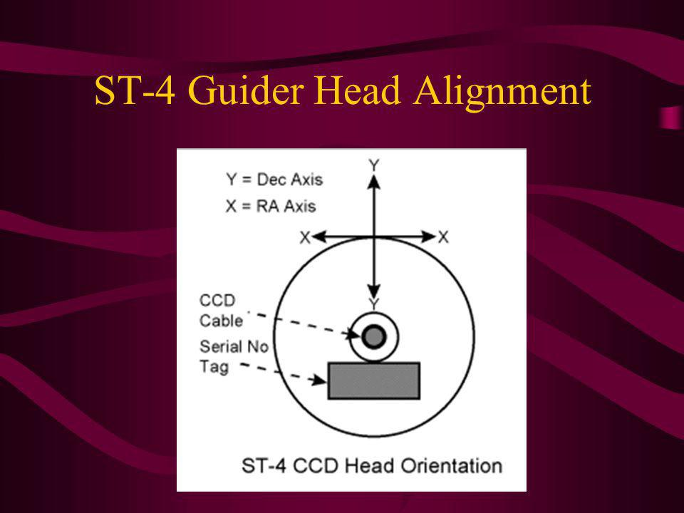 ST-4 Guider Head Alignment