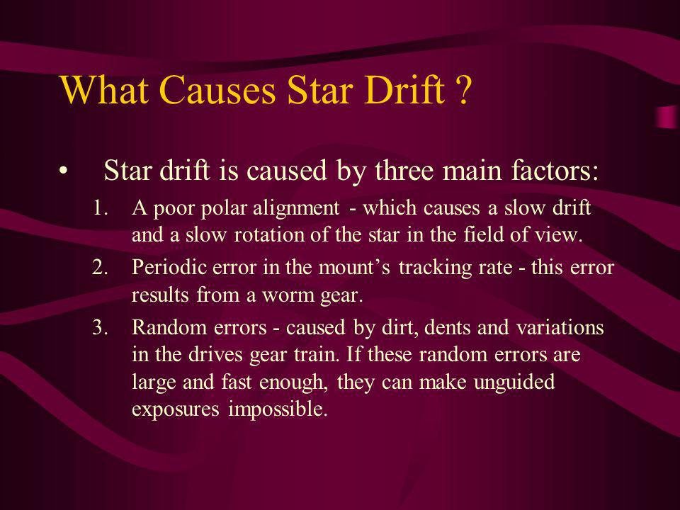 What Causes Star Drift Star drift is caused by three main factors: