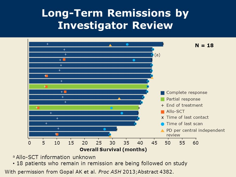 Long-Term Remissions by Investigator Review