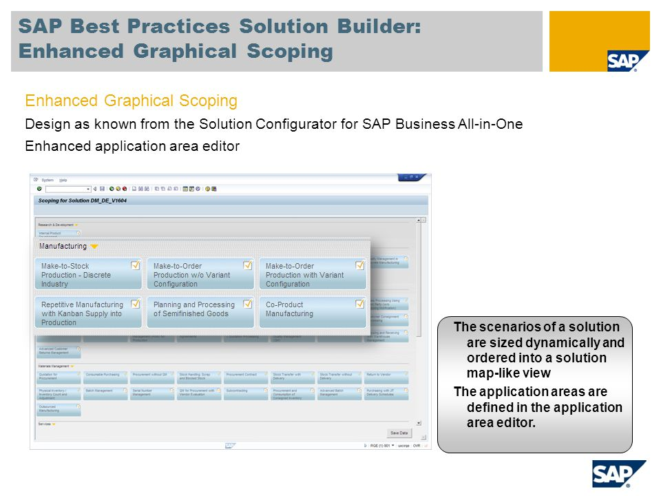 SAP Best Practices Solution Builder: Enhanced Graphical Scoping