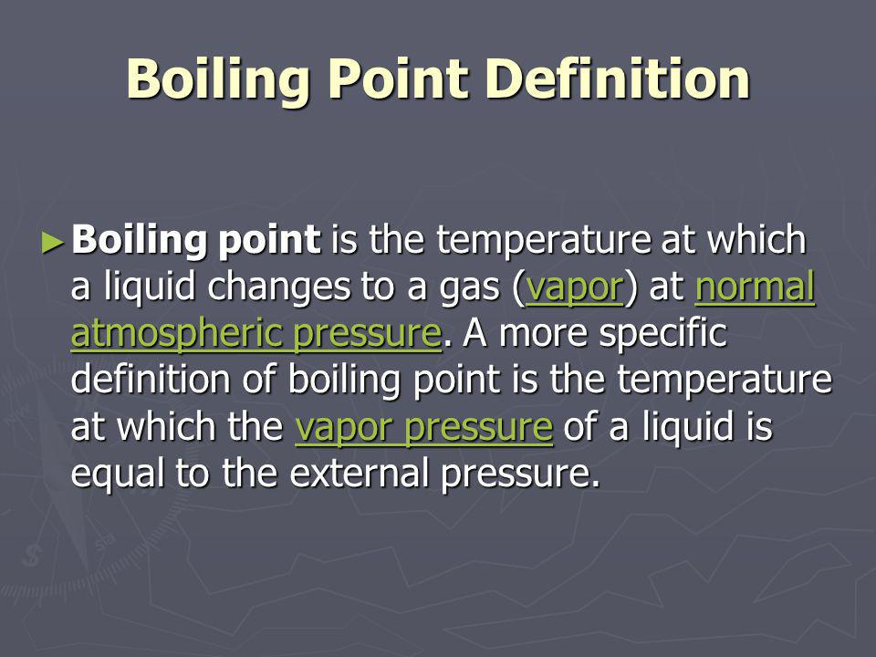 Boiling Point Definition
