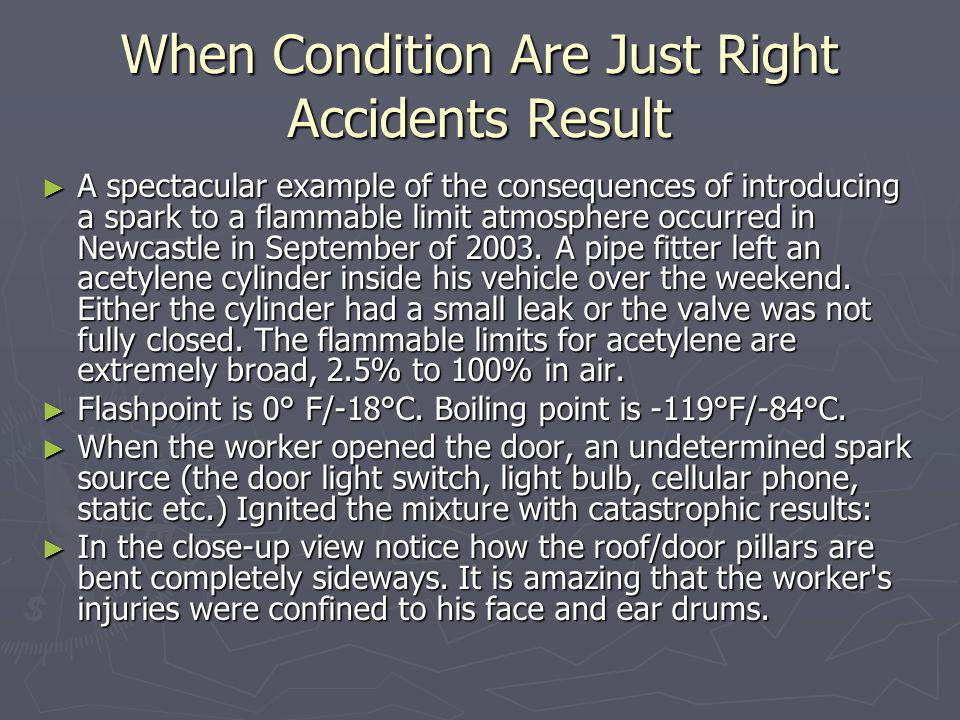 When Condition Are Just Right Accidents Result