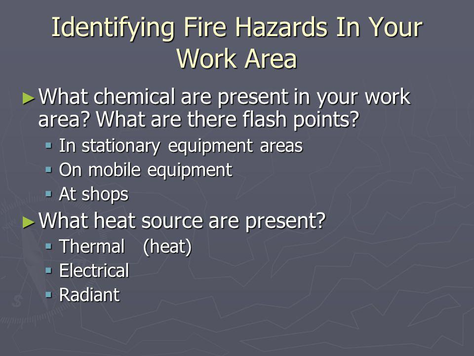 Identifying Fire Hazards In Your Work Area