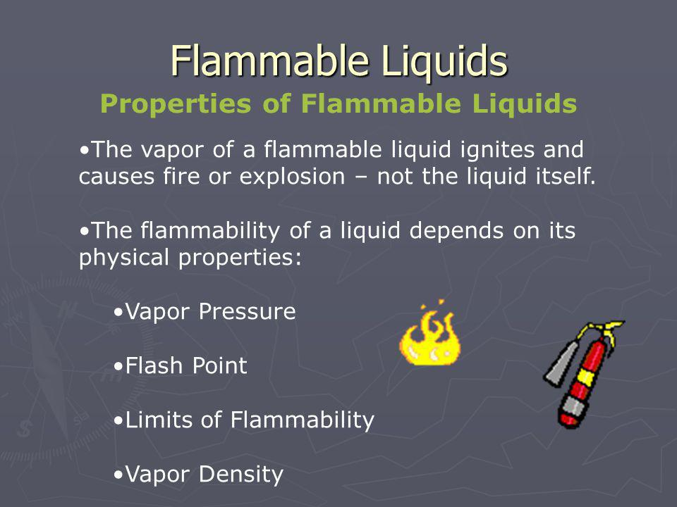 Properties of Flammable Liquids