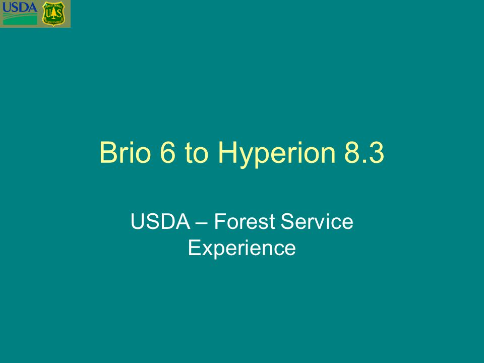 USDA – Forest Service Experience