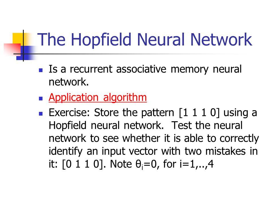 The Hopfield Neural Network