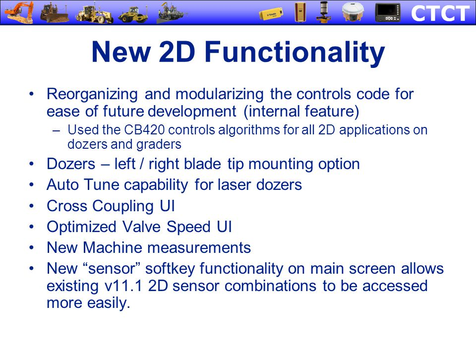 New 2D Functionality Reorganizing and modularizing the controls code for ease of future development (internal feature)