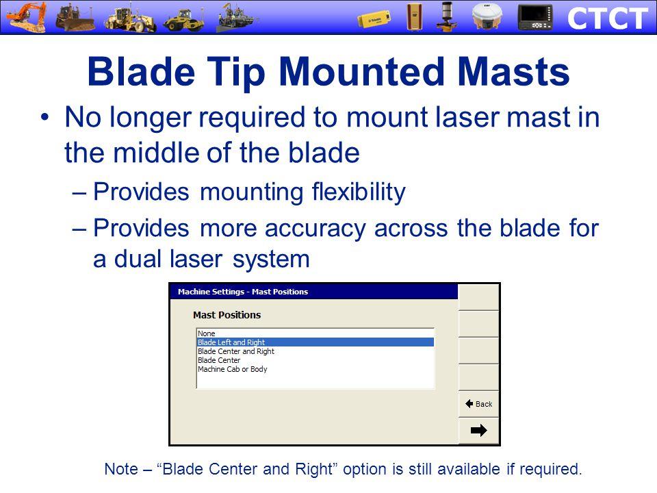Blade Tip Mounted Masts