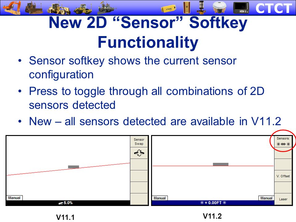 New 2D Sensor Softkey Functionality