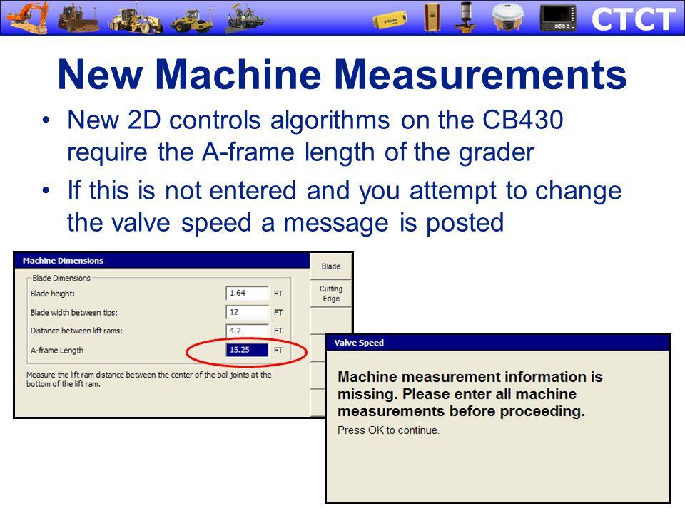 New Machine Measurements