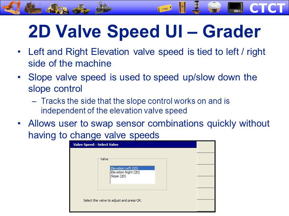 2D Valve Speed UI – Grader