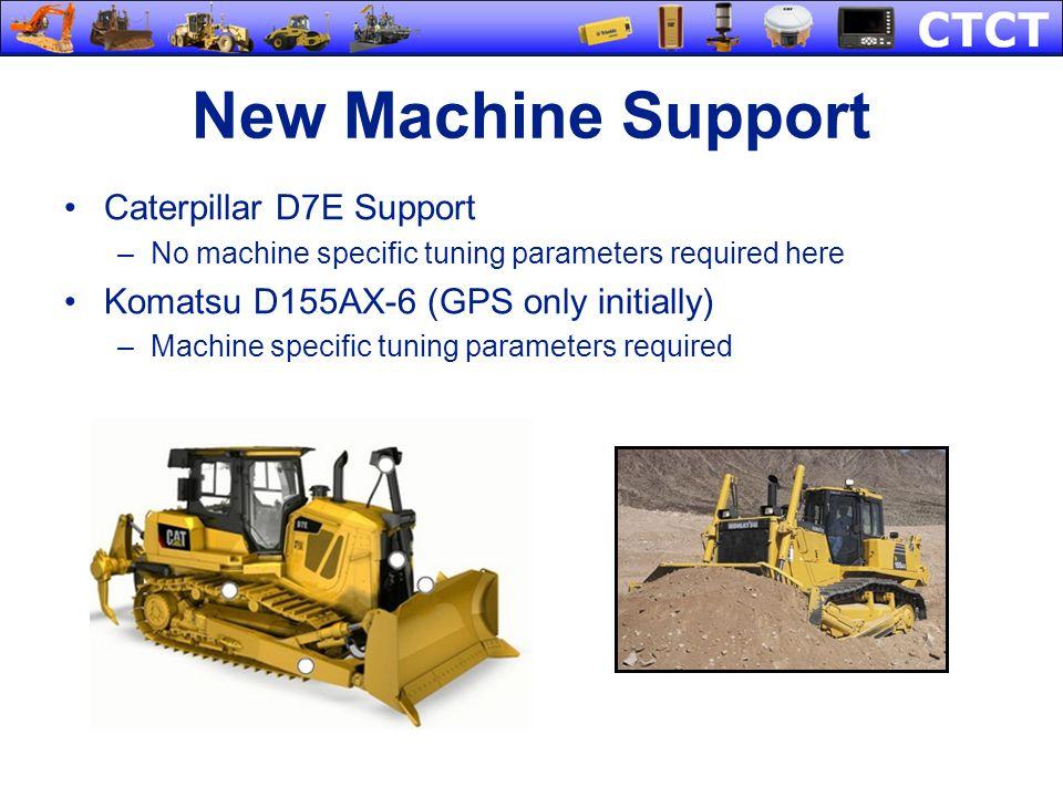 New Machine Support Caterpillar D7E Support