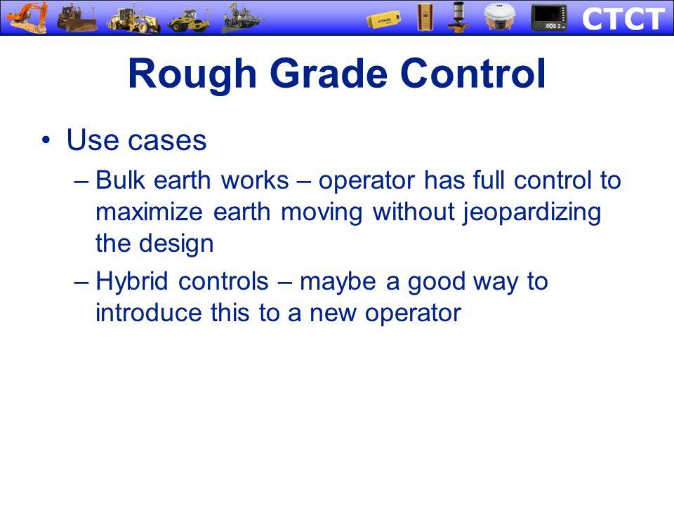 Rough Grade Control Use cases