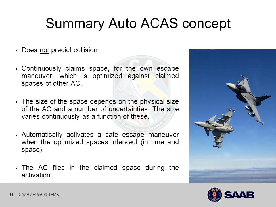 Summary Auto ACAS concept