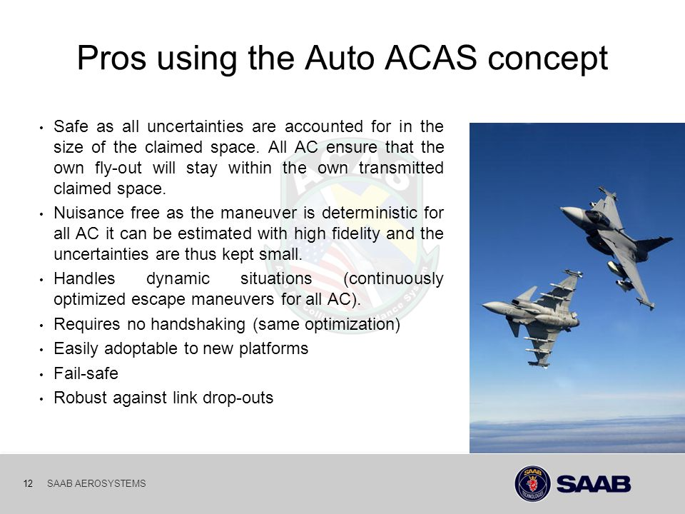 Pros using the Auto ACAS concept