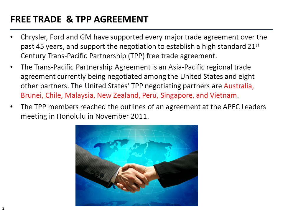 FREE TRADE & TPP AGREEMENT