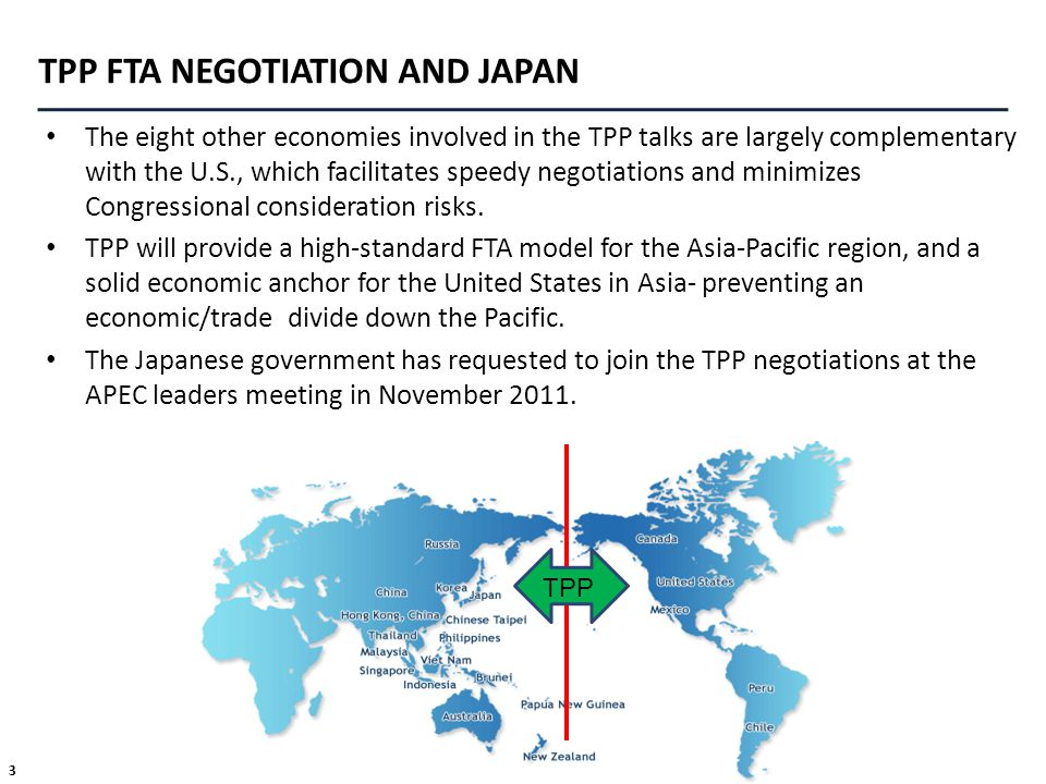 TPP FTA NEGOTIATION AND JAPAN