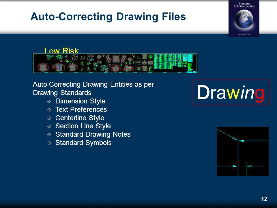 Auto-Correcting Drawing Files