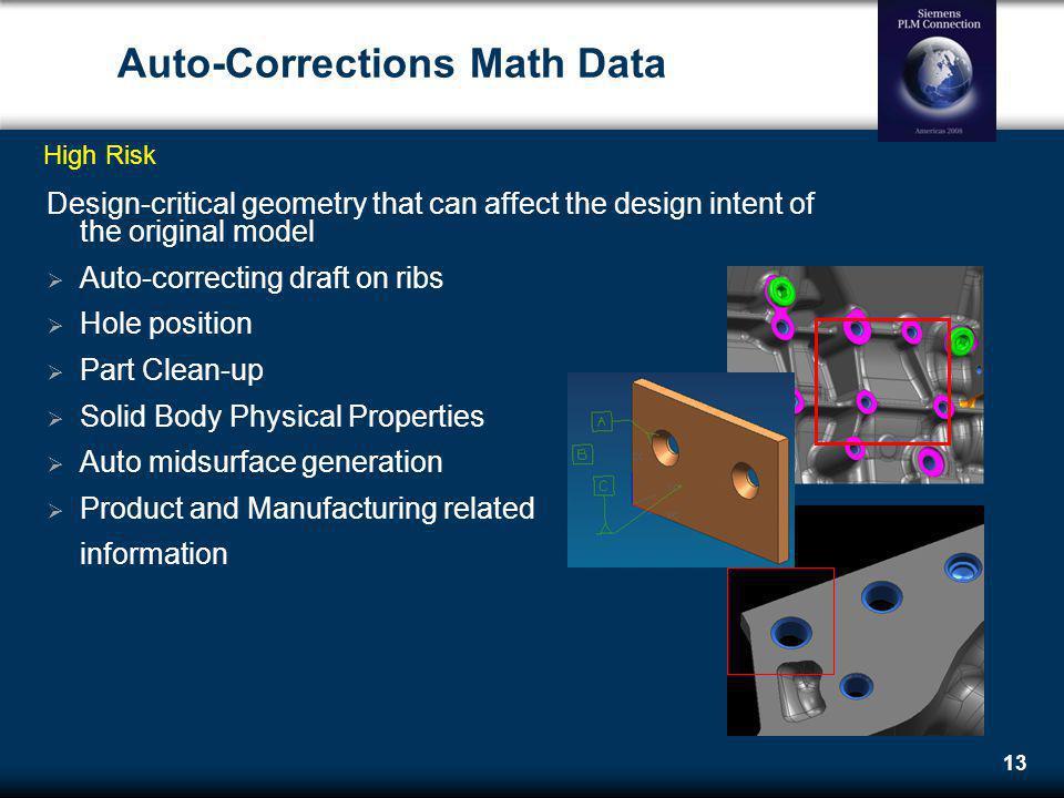 Auto-Corrections Math Data