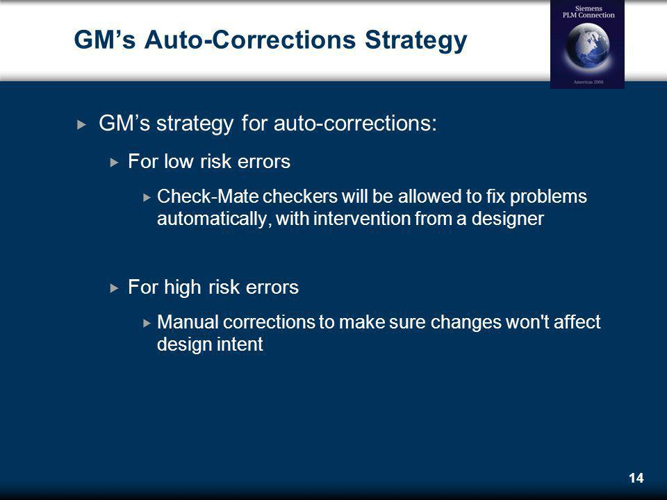 GM's Auto-Corrections Strategy