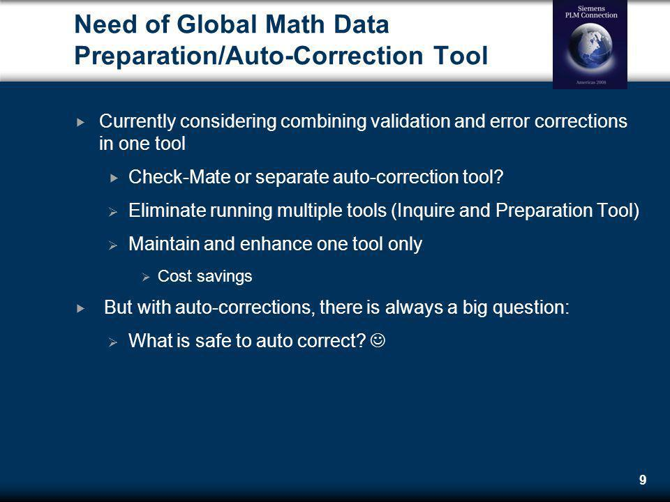 Need of Global Math Data Preparation/Auto-Correction Tool