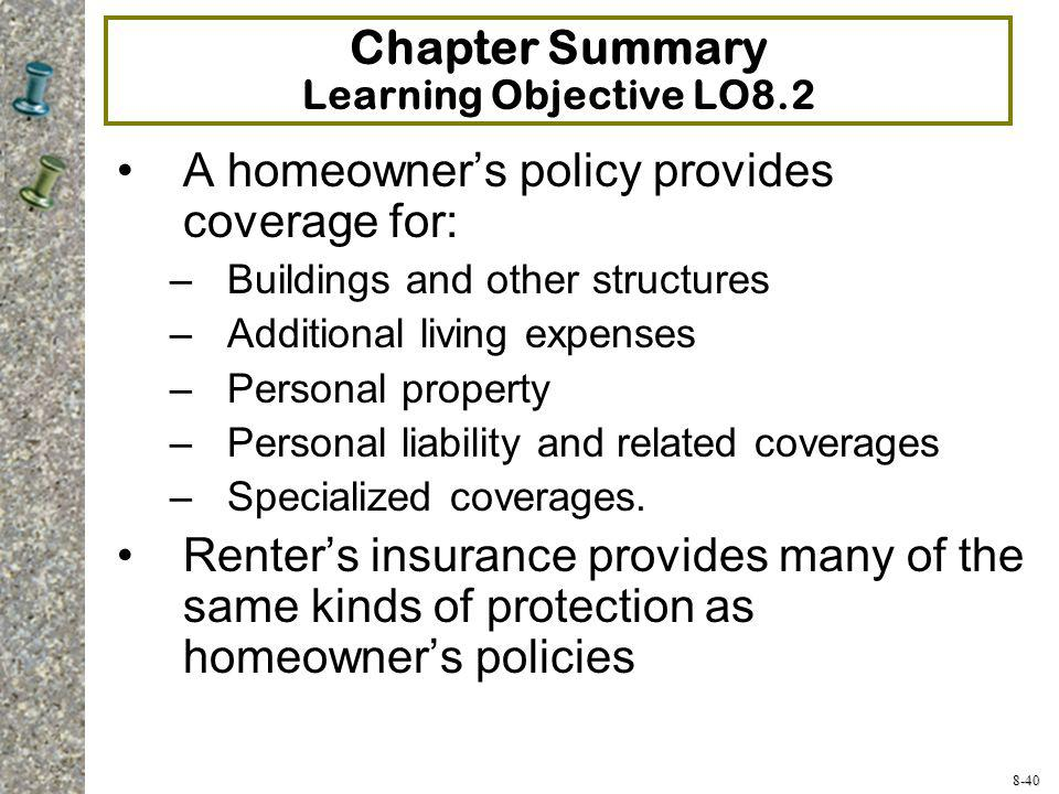 Chapter Summary Learning Objective LO8.2