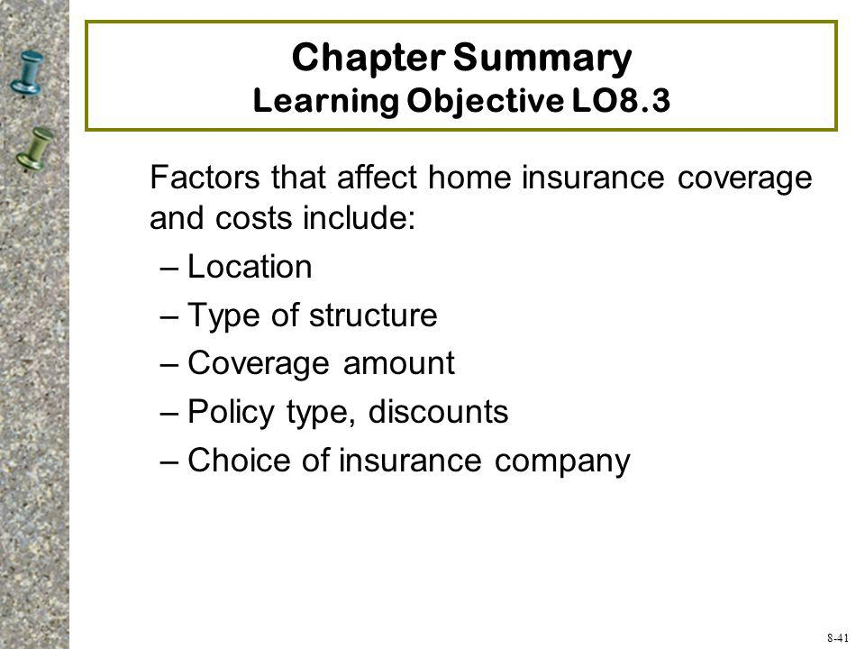 Chapter Summary Learning Objective LO8.3