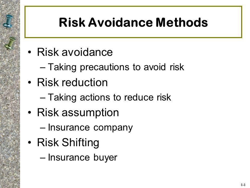 Risk Avoidance Methods