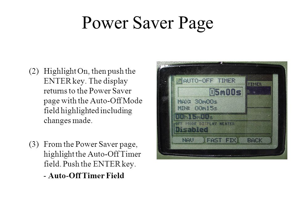Power Saver Page