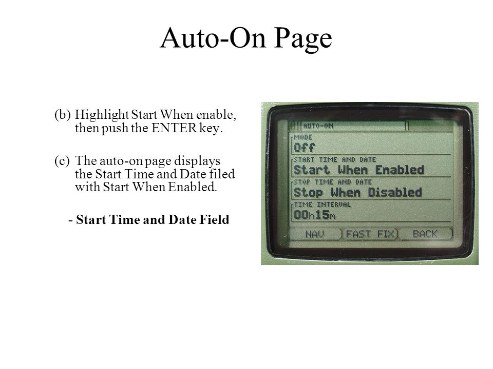 Auto-On Page Highlight Start When enable, then push the ENTER key.