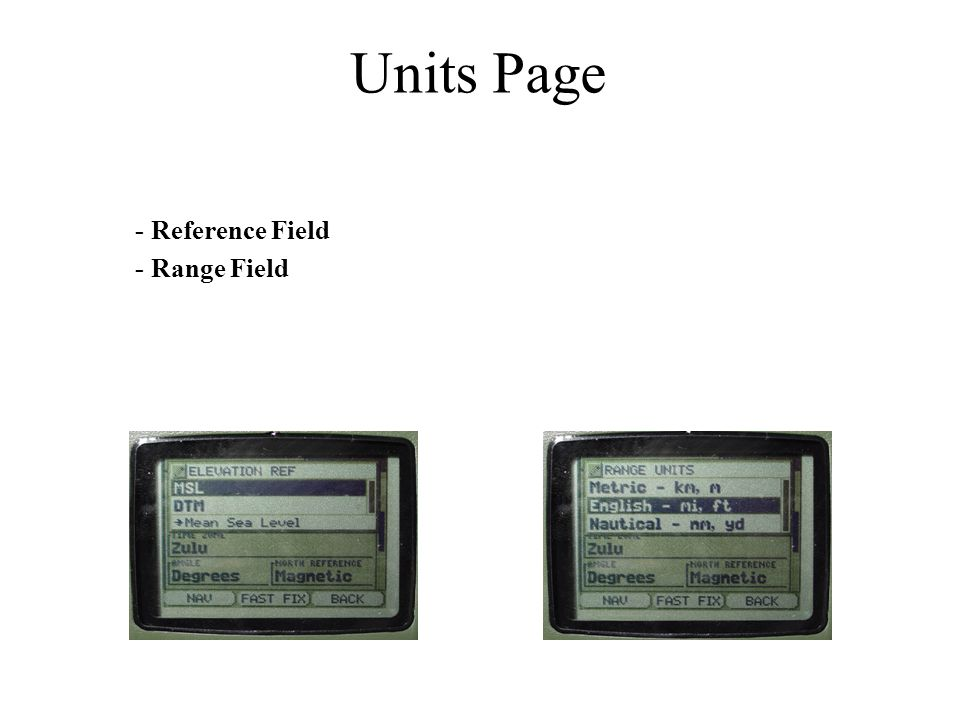 Units Page - Reference Field - Range Field