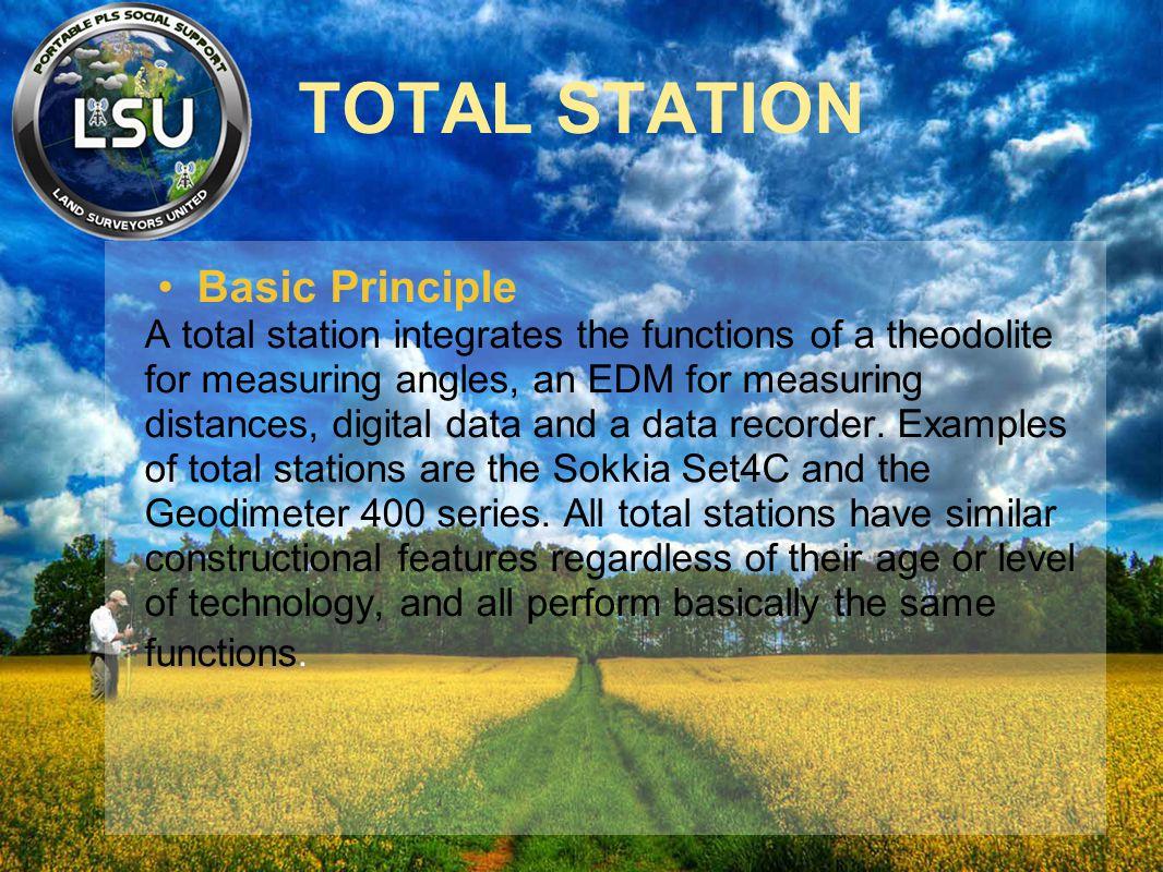 TOTAL STATION Basic Principle