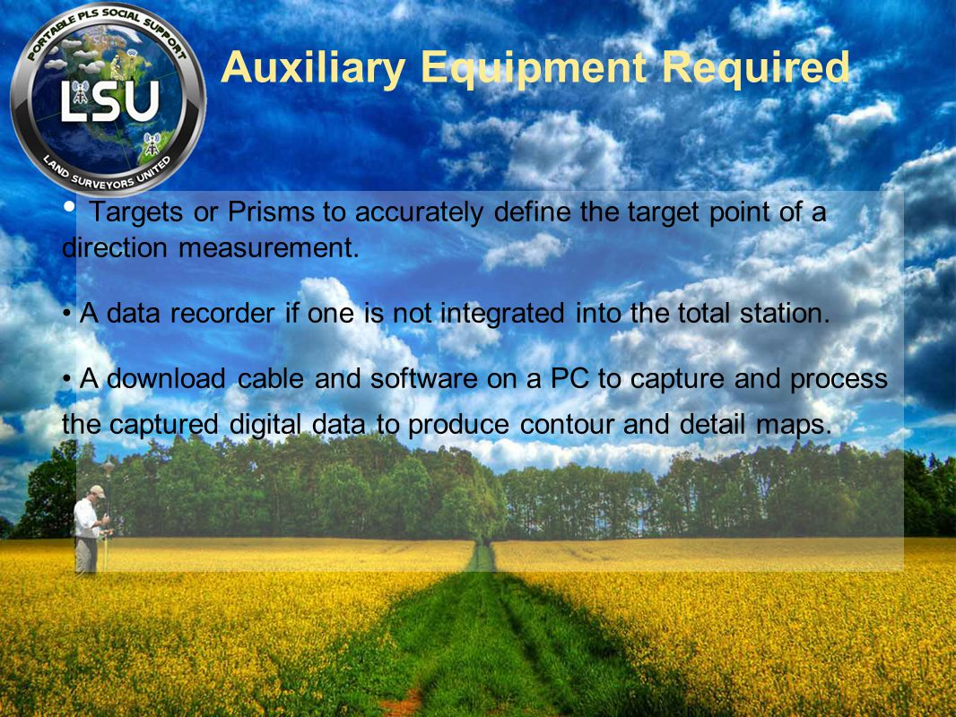 Auxiliary Equipment Required