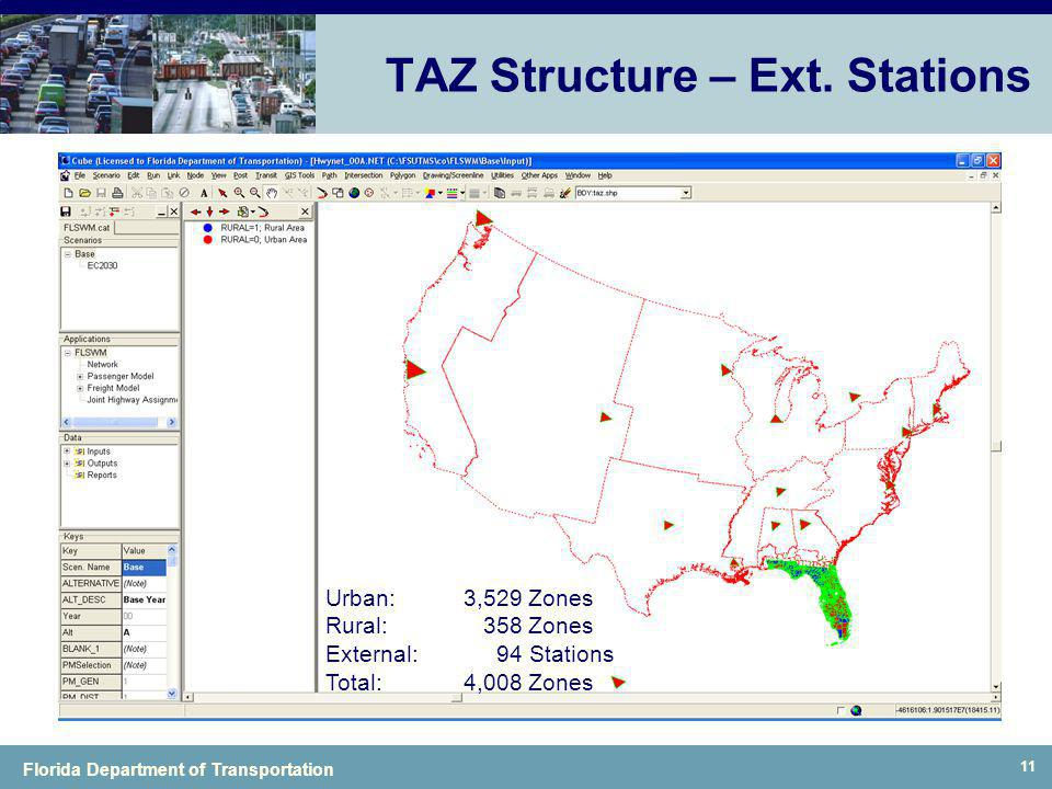 TAZ Structure – Ext. Stations
