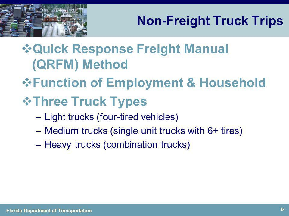 Non-Freight Truck Trips